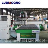 Automatic three spindles CNC router machine for wood cabinet door making