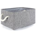 Small Storage Basket Linen Storage Bins for Toy Storage,Grey