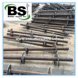 Steel ground helical pole/ground screw anchor