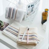 striped thickening cotton towel wholesale plain Fast Drying household adult face towel