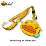 Best selling promotional gifts B.Duck cheap cute pu name badge