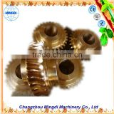 Metal Samll Pinion Brass/stainless Worm Gear for printing machines Alloy Wheel Screw Shaft