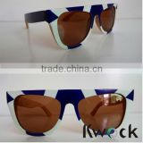Cheap Natural Wooden Sunglasses Vintage Color Painting Change Bamboo Sunglasses Wholesale                                                                         Quality Choice