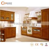 Natural wooden melamine board kitchen cabinets,modular shipping container restaurant