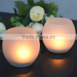 souvenir frost egg glass candle holders