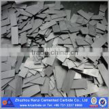 High bending strength tungsten steel plate/carbide plate in various grade and size from Zhuzhou original manufacturer