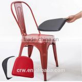 MCH-1501-11 Modern design stackable metal leather dining chair/Upholstered cafe chair