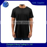 Wholesale Custom Made O-neck Black Slim Fitted Tall Tshirt