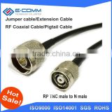 Bulk buying N male switch RP TNC male with socket RF pigtail cable RG58 20inch for wireless router