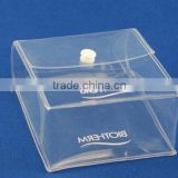 Wholesale cheap price clear pvc plastic bag with snap button small clear plastic cosmetic bag with snap botton