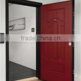 galvanized steel Frame And SUB-frame Italian models red painting security galvanized steel wood door