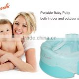 PM1829 High Quality Eco-frienfly Foldable Plastic Baby Travel Potty with diaposable nappy Liners
