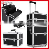 3-in-1 Aluminium Vanity Makeup Beauty Case Cosmetics Nail Hairdressing Trolley