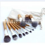 High Quality Professional 11pcs/set Bamboo Handle Makeup Brush Cosmetics Brush set