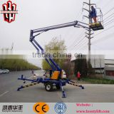16m telescopic portable electric boom lifter trailer crane for sales with CE & ISO9001