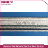 different color woven elastic band stripes with customized logo