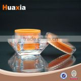 Luxury Colorful 2014 New Products Fancy Pretty round acrylic cream jar cosmetic packaging jars
