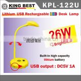 KING BEST Bedroom Lamps Built-in high capacity lithium battery 180 Degree Rotation led table lamp with usb port
