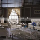 home living room furniture/ 1+2+3 leather sofa set/ leather sex carved sofa set L368