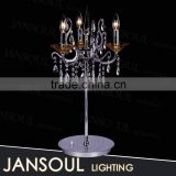 hot selling modern chinese style indoor solar decorative 3 lights crystal candelabra chandelier table lamp                                                                         Quality Choice