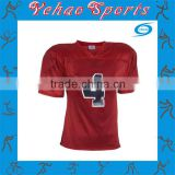 blank red american football jersey with tackle twill number