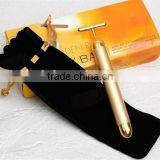 Hotsale 24k Facial Beauty Bar Vibrating Massage Machine Hand Held