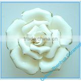 Handmade customized porcelain flowers ceramic flower crafts