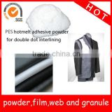 Interlining hotmelt adhesive powder Co-polyester material Y1201P