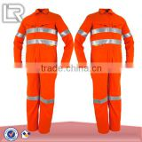 Orange Protective Security Coverall Workwear Uniform Jumpsuit Safety Coveralls