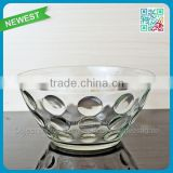 New Design Glass Bowl Circle Decoration New Glasses Bowl Welcomed Home Use Glass Bowl Cups