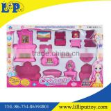 Girls plastic miniature doll house furniture toy
