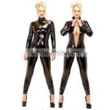 Punk Faux Leather Latex Catsuit Sexy Costumes Women Jumpsuits Party Erotic Wholesale Sexy Leather Jumpsuit