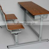 Wooden and metal school table and chair/Used school furniture/Wood school desk and chair