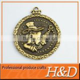 Customized The Best Quality Bronze Color award medal with 3D logo with red,white,blue ribbon