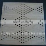customize pattern perforated wood fiber acoustic panel