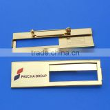 Metal customzed logo name badge with window
