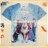( C5170Y ) 2-8Y BW kids fashion wear frozen characters printed clothes boys summer t shirt