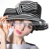 Beautiful White And Black Lady / Women Church Hat