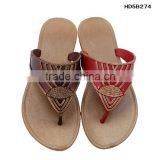 New Design India Flat Fancy PCU Lady Sandals China wholesale low price flat sandals for ladies pictures air blow outsole