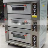 Commercial 3 deck 6 trays gas baking oven with steam with ceramic stone                                                                         Quality Choice