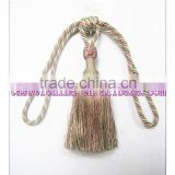 Decorative home decor polyester tieback tassel, Turkey curtain tassel fringe, tie back ball