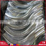 Aluminum foil Silicone Hose top quality reinforce tubing elbow bending hose foil cover film