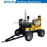 Wheel Mounted Water Well Drilling Rig, Rotary Core Drilling Rig, Hydraulic Control Mine Drilling Rig