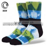 Blue Sky Print Jacquard Custom Design Made Wholesale Custom Socks Unsex/Man Sock/China Custom Sock Manufacturer Ow