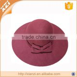 Girls beach hats polyester felt hats bowknot hats                                                                         Quality Choice