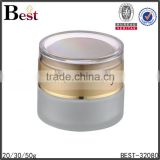 20/30/50g frosted cosmetic jar glass jar for cream gold acrylic cap                                                                                                         Supplier's Choice