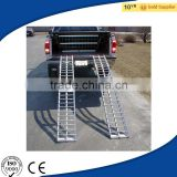 Aluminum Folding Arched Dual Runner ATV/Garden/Lawn Tractor/ 4-Wheeled Vehicles Loading Ramps for Pickup Truck Trailer