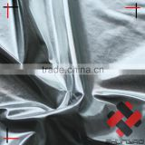 polyester pongee polished hot stamping foil silver fabric bronzed soft feel for padded jacket