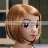 Yiwu Hot Sale Children Wig Cartoon Synthetic hair Colorful Short Wig Full lace cap Wig for kids