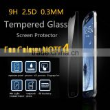 50pcs Wholesale 0.3mm Premium Real Tempered Glass Film Screen Protector 9H for Samsung Galaxy Note 4 N9100 N910a freeshipping